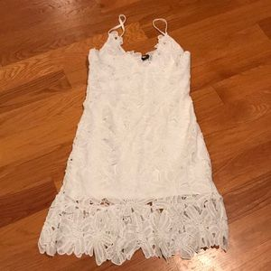Nasty Gal Dress size 6 white Lace New With Tags